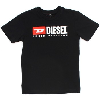 textil Barn T-shirts Diesel Kid 00J47V 00YI9 Black