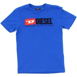 textil Barn T-shirts Diesel Kid 00J47V 00YI9 Blue