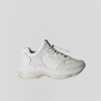 Skor Dam Sneakers Bronx Chaussures femme  Baisley Suede blanc cassé