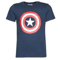 textil Herr T-shirts Casual Attitude CAPTAIN AMERICA LOGO Marin