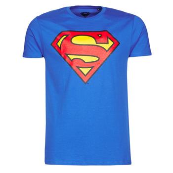 textil Herr T-shirts Yurban SUPERMAN LOGO CLASSIC Blå