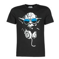 textil Herr T-shirts Casual Attitude DJ YODA COOL Svart