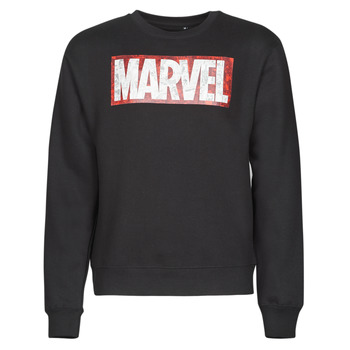 textil Herr Sweatshirts Casual Attitude MARVEL MAGAZINE CREW Svart