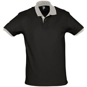 textil Kortärmade pikétröjor Sols PRINCE COLORS Negro