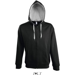 textil Herr Sweatjackets Sol's Veste zippé à capuche  Soul noir