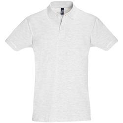 textil Herr Kortärmade pikétröjor Sols PERFECT COLORS MEN Gris