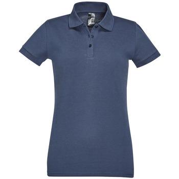 textil Dam Kortärmade pikétröjor Sols PERFECT COLORS WOMEN Azul
