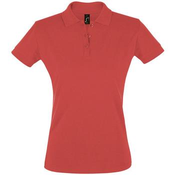 textil Dam Kortärmade pikétröjor Sols PERFECT COLORS WOMEN Rojo