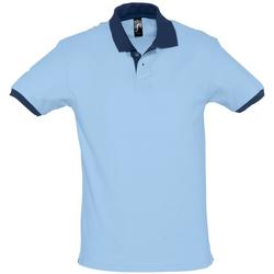 textil Herr Kortärmade pikétröjor Sols PRINCE COLORS Azul