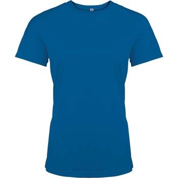 textil Dam T-shirts Proact T-Shirt femme manches courtes  Sport bleu marine