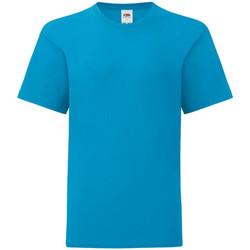 textil Pojkar T-shirts Fruit Of The Loom 61023 Azure