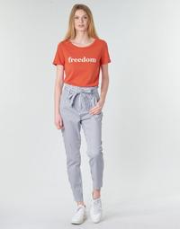 textil Dam Chinos / Carrot jeans Vero Moda VMEVA Vit / Grå