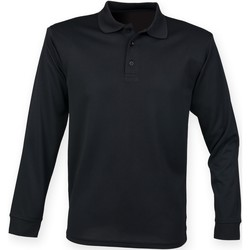 textil Herr Långärmade pikétröjor  Henbury HB478 Grått kolgrått