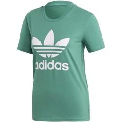 textil Dam T-shirts adidas Originals Trefoil Tee Gröna