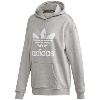 textil Dam Sweatshirts adidas Originals Trefoil Hoodie Gråa