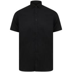 textil Herr Kortärmade skjortor Henbury HB517 Svart