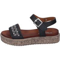 Skor Dam Sandaler Osmose sandali pelle sintetica strass Nero