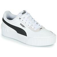 Skor Dam Sneakers Puma CARINA LIFT Vit / Svart / Grå