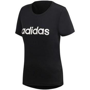 textil Dam T-shirts adidas Originals D2M Logo Tee Svarta