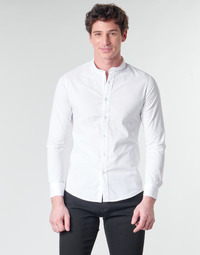 textil Herr Långärmade skjortor Yurban MASS Vit