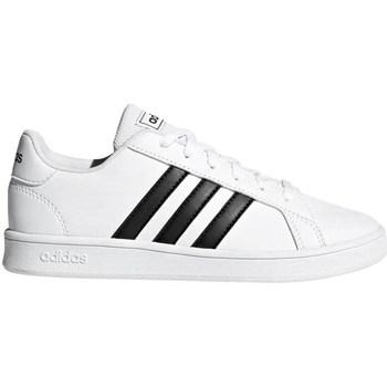 Skor Herr Sneakers adidas Originals Grand Court K Vit,Svarta
