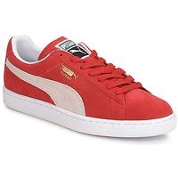 Skor Herr Sneakers Puma SUEDE CLASSIC + Röd / Vit