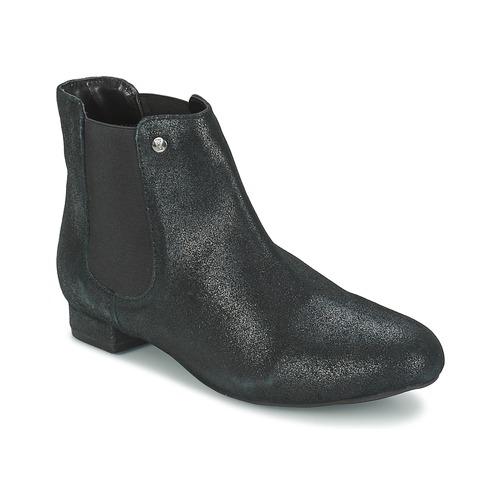 Skor Dam Boots Elle MABILLON Svart / Blank