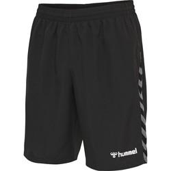 textil Herr Shorts / Bermudas Hummel Short  hmlAUTHENTIC Training noir/blanc