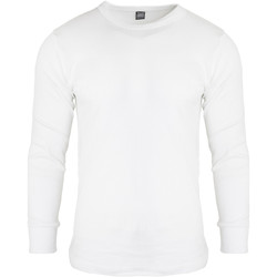 textil Herr Långärmade T-shirts Floso  Vit
