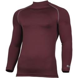 textil Herr Långärmade T-shirts Rhino RH001 Maroon