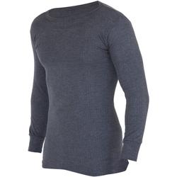 textil Herr Långärmade T-shirts Floso  Kol