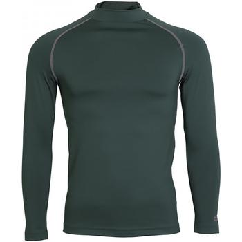 textil Herr Långärmade T-shirts Rhino RH001 Flaskegrön