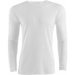 textil Herr Långärmade T-shirts Universal Textiles  Vit