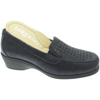 Skor Dam Loafers Calzaturificio Loren LOK4013bl blu