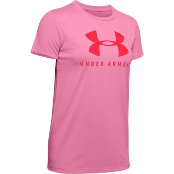 textil Dam T-shirts Under Armour Graphic Sportstyle Classic Crew Rosa