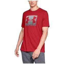 textil Herr T-shirts Under Armour Boxed Sportstyle Röda