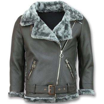 textil Dam Skinnjackor & Jackor i fuskläder Z Design Shearling Jacka Skinnjacka Grå