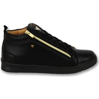 Skor Herr Sneakers Cash Money Sneaker Bee Black Gold V CMS Svart