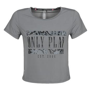 textil Dam T-shirts Only Play  Grå