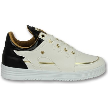 Skor Herr Sneakers Cash Money Märkesskor Stiliga Skor Luxury White Black Vit