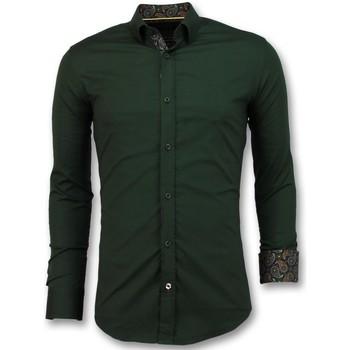 textil Herr Långärmade skjortor Tony Backer Business Blanco Blus Grön