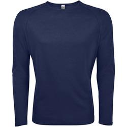textil Herr Långärmade T-shirts Sols SPORT LSL MEN Azul