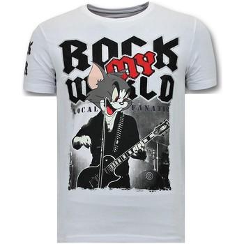 textil Herr T-shirts Local Fanatic Rock My World Cat W Vit