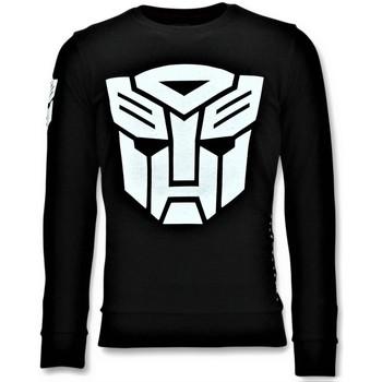 textil Herr Sweatshirts Local Fanatic Transformers Print Svart