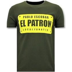 textil Herr T-shirts Local Fanatic Mens Print Pablo Escobar El Patron Grön