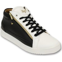 Skor Herr Sneakers Cash Money Sneaker Bee Black White Gold Vit