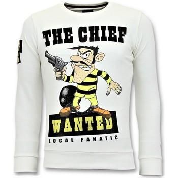 textil Herr Sweatshirts Local Fanatic Strass Chief Wanted Vit