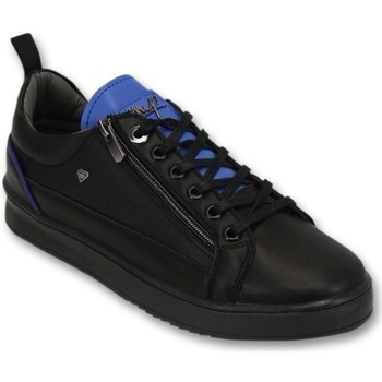 Skor Herr Sneakers Cash Money Mens Trainers Maximus Zwart, Blauw