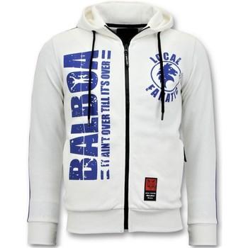 textil Herr Sweatshirts Local Fanatic Utbildnings Jacket Rocky Balboa Vit
