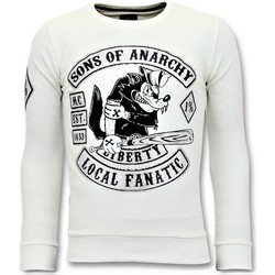 textil Herr Sweatshirts Local Fanatic Strass Sons Of Anarchy Vit